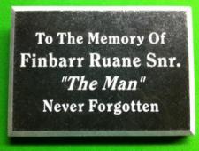 Fin Ruane Snr Plaque