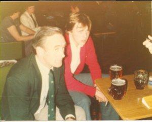 Finbarr Ruane Snr, left, in 1981