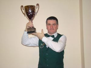 Mark Tuite with the trophy - photo courtesy of PJ Nolan.
