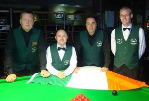 The Irish team - photo courtesy of Home Internationals Facebook page.