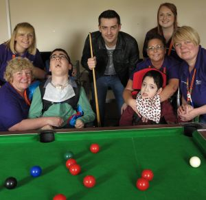 Mark Selby at Bluebell Wood - Photo courtesy of World Snooker.