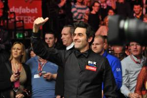Ronnie O'Sullivan is back after his World Championship defeat to Mark Selby - photo courtesy of Monique Limbos.
