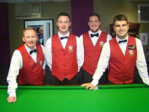 The winning Welsh team.