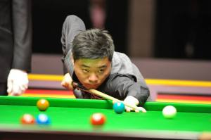 After winning the Shanghai Masters in 2013, Ding went on to win a further four ranking events last season - photo courtesy of Monique Limbos.