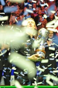 Neil Robertson after winning last year - photo courtesy of Monique Limbos.