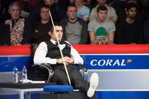 Ronnie O'Sullivan broken ankle