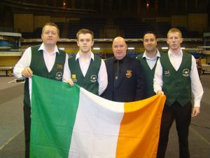 Boileau, second from the left, with the rest of the Irish team in India in November - photo courtesy of PJ Nolan.