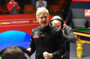 It's five years since Robertson's maiden Crucible triumph - photo courtesy of Monique Limbos.