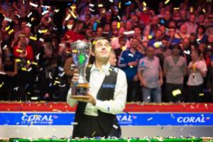 O'Sullivan beat Judd Trump 10-9 in the 2014 UK Championship final - photo courtesy of Monique Limbos.