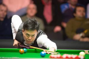 Fu's 147 was the third of his career - photo courtesy of Monique Limbos.