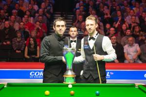 Trump and O'Sullivan have met in three major finals this season but are set to meet in the last four in Sheffield - photo courtesy of Monique Limbos.