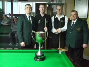 Goggins, second from the left, has 520 ranking points - photo courtesy of Ivy Rooms Carlow.