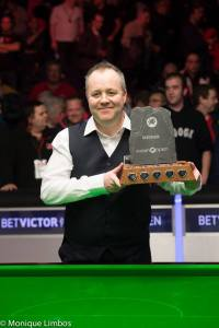 Higgins won the Welsh Open in February - photo courtesy of Monique Limbos.
