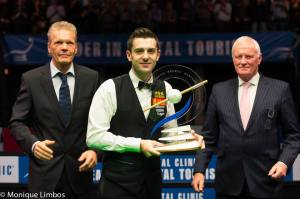 Barry Hearn was one of the first to congratulate Selby after his win - photo courtesy of Monique Limbos.