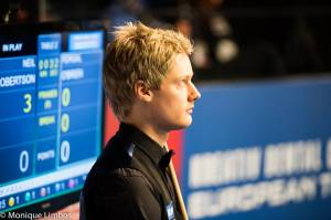 Robertson beat Graeme Dott to win the title five years ago - photo courtesy of Monique Limbos.