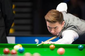 Xiao could become the third Asian to win the Championship League after Marco Fu in 2010 and Ding Junhui in 2012 - photo courtesy of Monique Limbos.