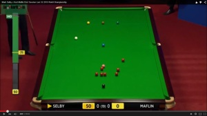 The graphic was met with a barrage of anger on social media website Twitter - photo courtesy of SnookerRoom YouTube.