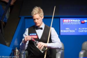 Robertson compiled a tournament high break of 145 in his victory over Ali Carter - photo courtesy of Monique Limbos.