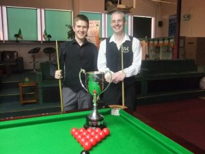 O'Donoghue and Goggins played each other in three out of the seven ranking event finals this season - photo courtesy of Ivy Rooms Carlow Facebook.