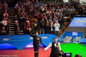 Selby and Maflin served up a treat for the big crowd inside the Crucible on opening Saturday - photo courtesy of Monique Limbos.