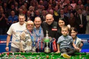 In case you somehow missed it, Stuart Bingham is the new world champion - photo courtesy of Monique Limbos.