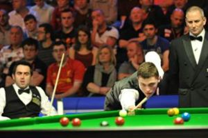 Clark played O'Sullivan in the 2013 UK Championship when he was 19 - photo courtesy of Monique Limbos.