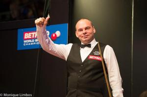 Bingham beat Mark Allen in the 2014 final - photo courtesy of Monique Limbos.