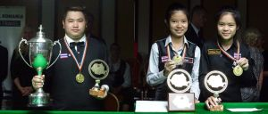 Kaettikun alongside fellow Thai Siripaporn Nuanthakhamjan, right, who won the women's Under-21s - photo courtesy of IBSF.