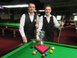 Dowling and O'Donoghue ahead of the final, which the latter won 4-1 - photo courtesy of Ivy Rooms Carlow Facebook Page.