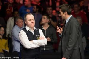 Higgins after winning the Welsh Open this year, his first of three ranking events in 2015 - photo courtesy of Monique Limbos.
