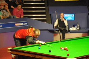 Williams and Higgins at the Crucible in 2011 - photo courtesy of Monique Limbos.