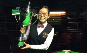 Ng On Yee with the Ladies World Championship trophy
