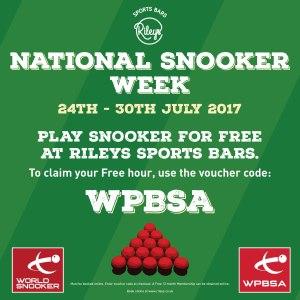 Rileys National Snooker Week